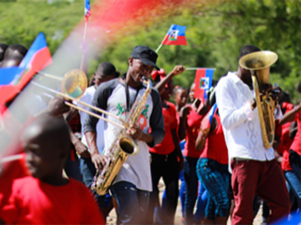 TEN Global Musicians Parade in Haiti