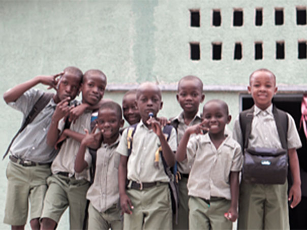 TEN Global Group of Young Boys in Haiti