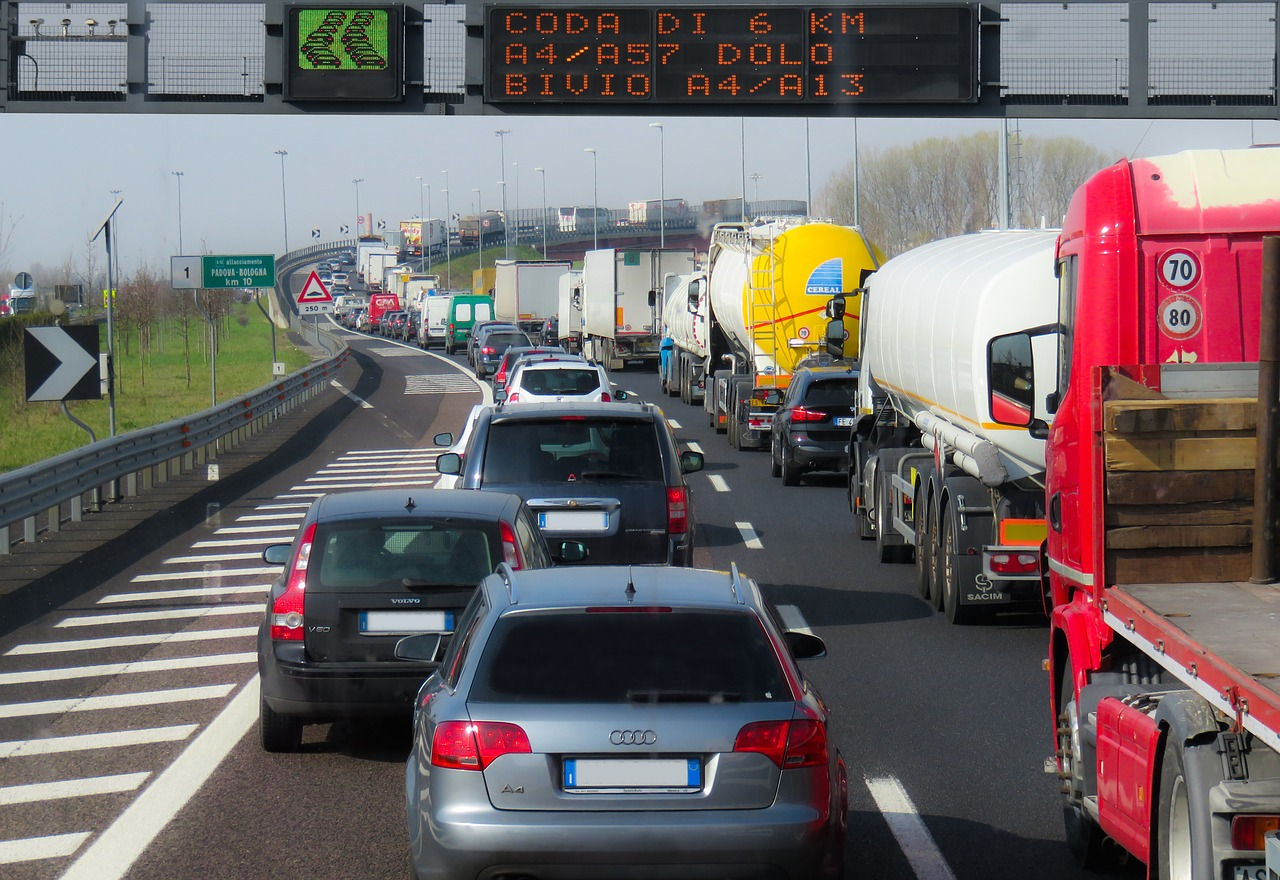 traffic, vehicles, jam