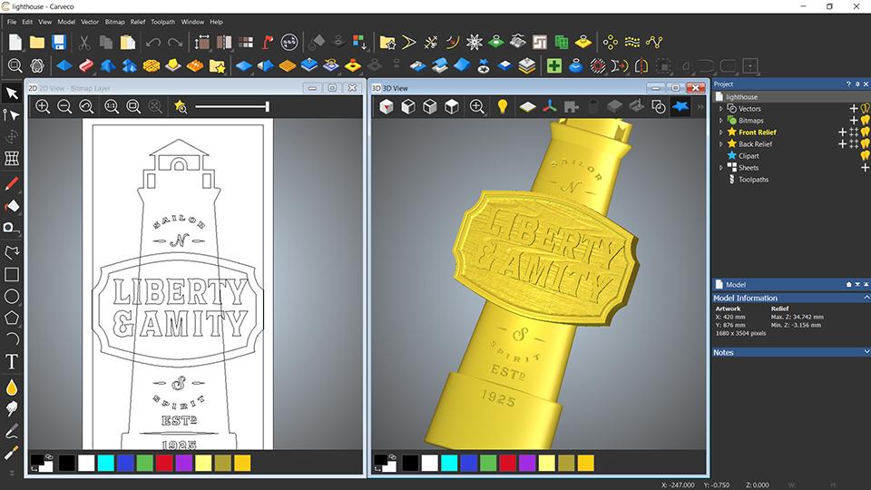 Amity & liberty 2D and 3D design views