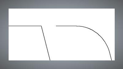 Creating fillets or adding radii to a sharp corner