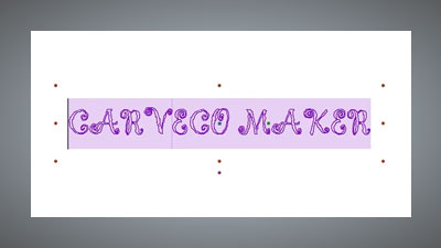 Creating text showing Carveco Maker