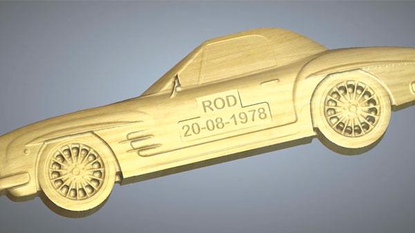 3D Model of a sports car
