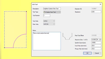 Adding a custom form tool to the database