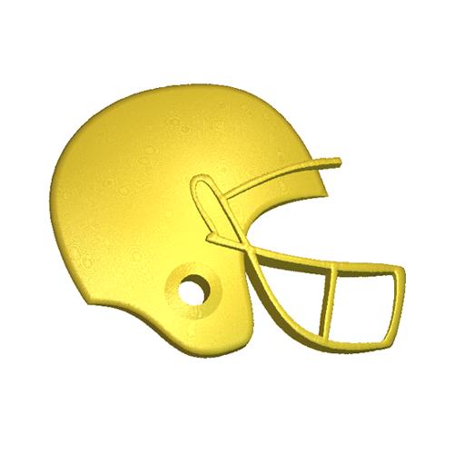 Football helmet relief model
