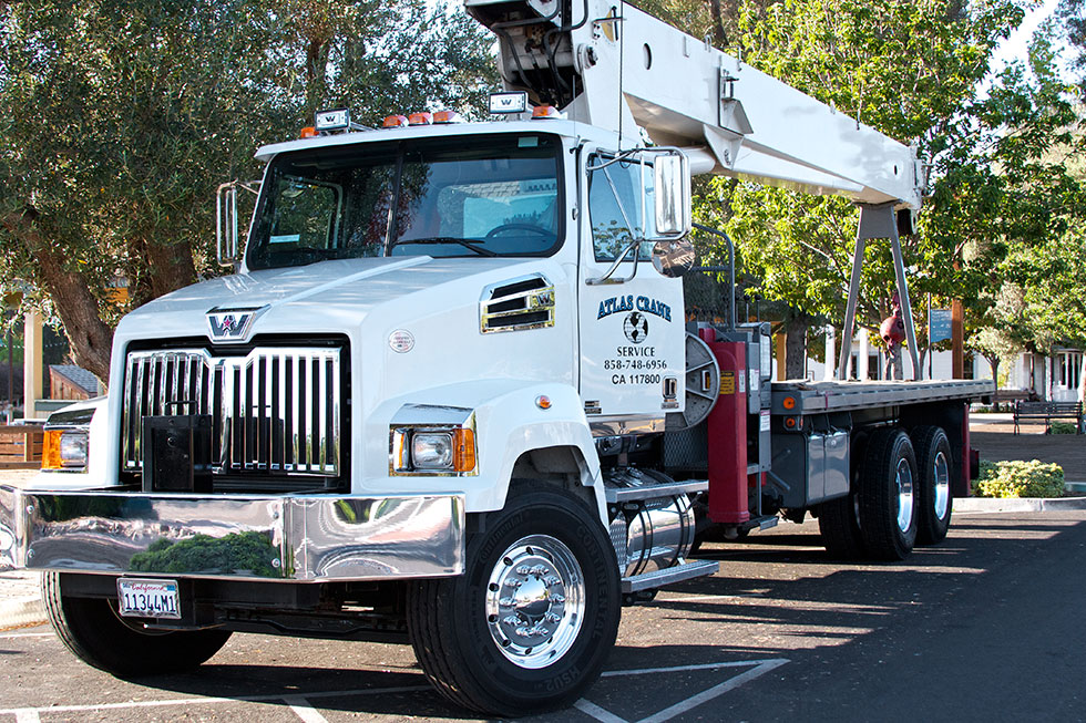 One of our fleet of the best light commercial cranes