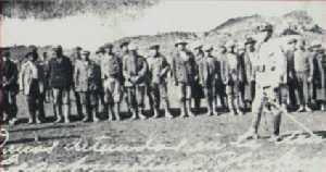 Huelguistas detenidos por las fuerzas de Varela.