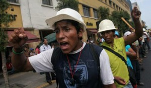 Mineros en Peru en Lucha