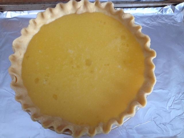 pie shell:lemon filling to bake