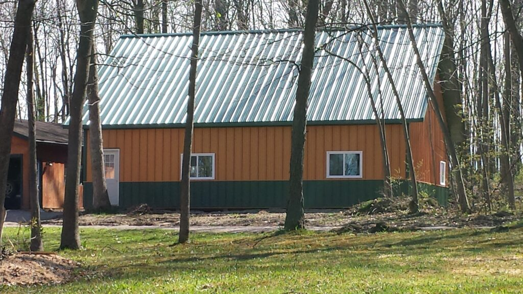 36 x 40 x 10 with Attica truss Post frame building and Hobby Shop