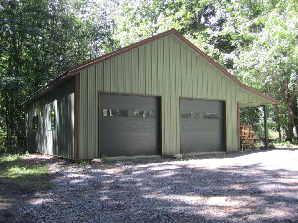 26 x 36 x 10 Post frame Garage