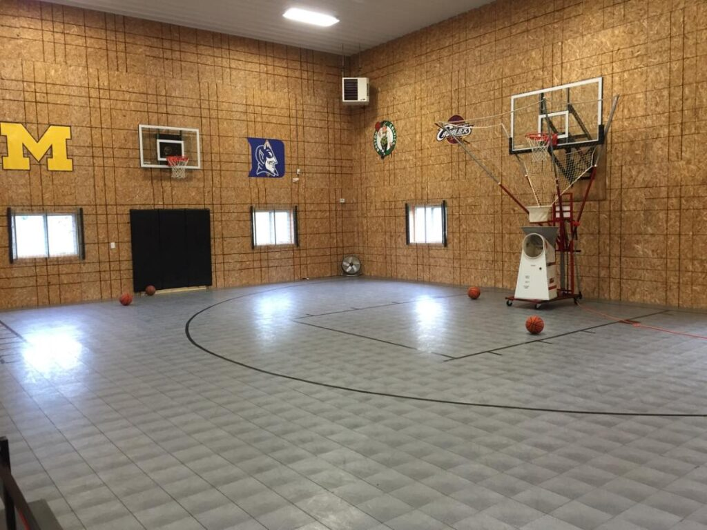 Indoor basketball court 36 x 48 x 20 Post Frame Building