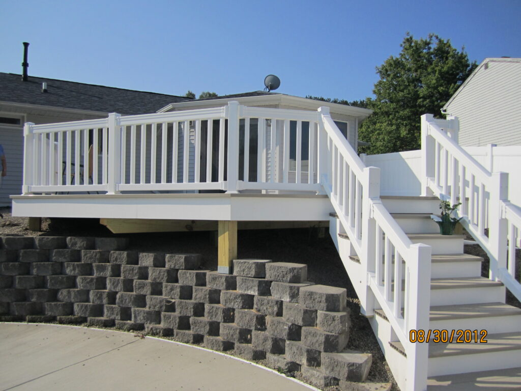 Vinyl Railing and stairs