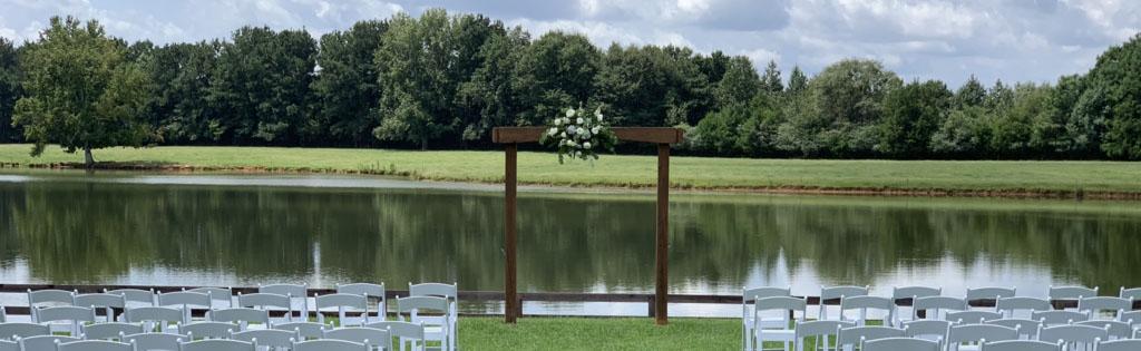The Rivers Ranch Wedding Setup