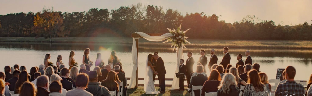 The Rivers Ranch - Lakefront, Sunset Wedding