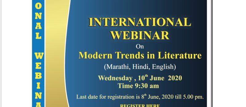 International Webiner On Modern Trends in Literature