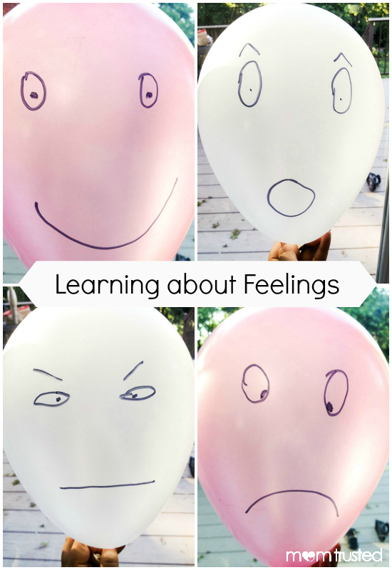 feeling balloons collage with text