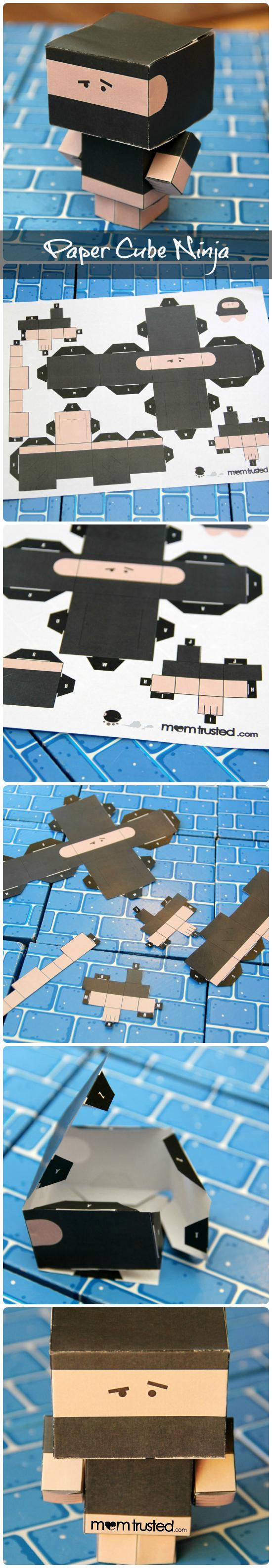 paper cube ninja collage txt