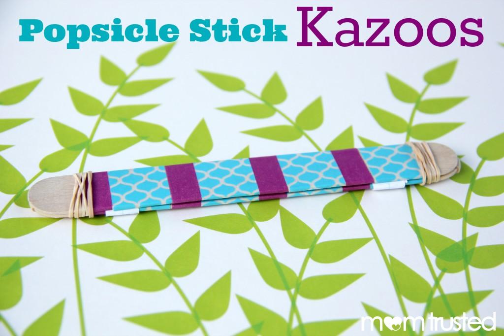 popsicle stick kazoo w logo