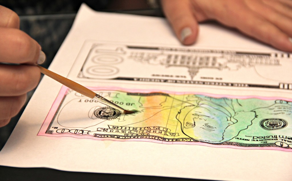 new 100 dollar bill coloring page 5