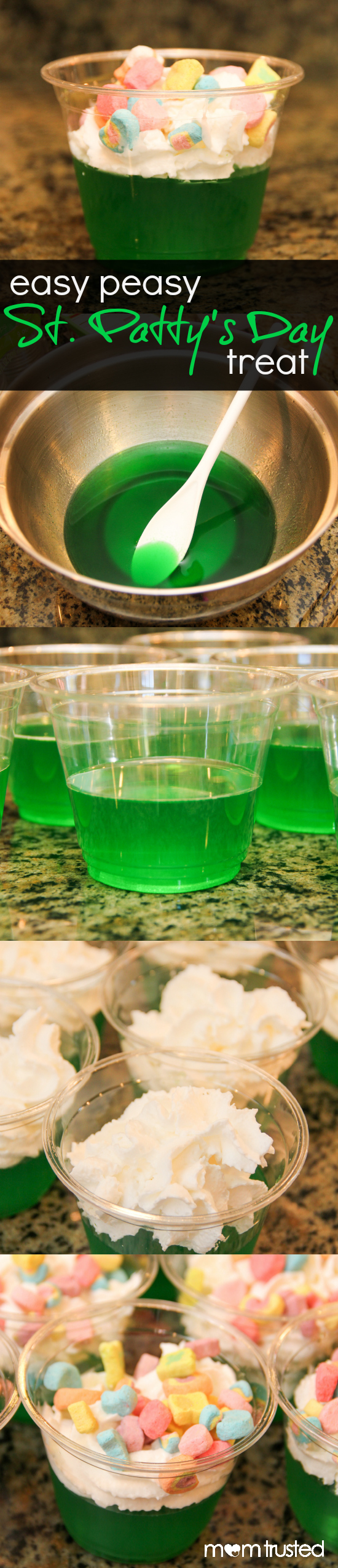 st pattys day dessert jello lucky charms treat