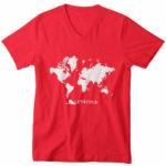 men_s vneck Map logo (red white)