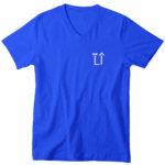 mens vneck L.I. logo (royal blue white)
