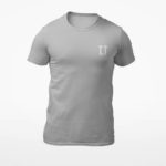 men_s tee L.I. logo (grey white)