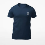men_s tee L.I. logo (navy blue white)
