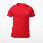 men_s tee L.I. logo (red white)