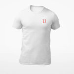 men_s tee L.I. logo (white red)