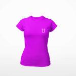 women_s tee L.I. logo (purple white)