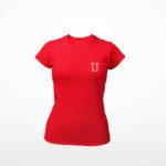 women_s tee L.I. logo (red white)