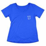 women_s vneck L.I. logo (royal blue white)