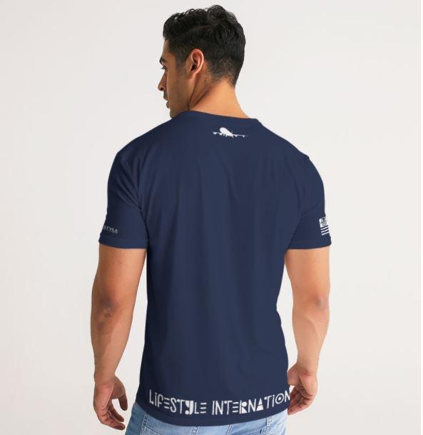 1st class tee navy blue