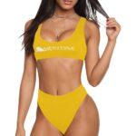 High Waist Bikini Yellow
