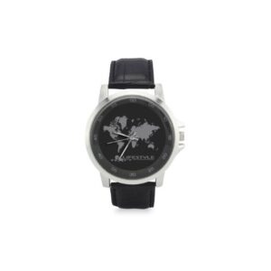 Stainless Steel Map Watch