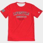 Live it University Tee Red