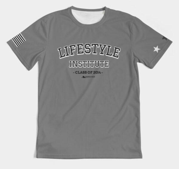 Live it University Tee Gray