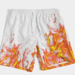 Fire swimming trunks