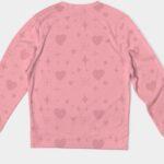 Pink Heart Sweatshirt 1