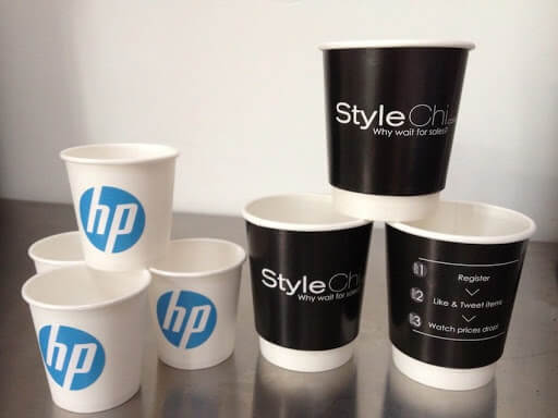 PAPER CUP advertising done by Tophawks for HP