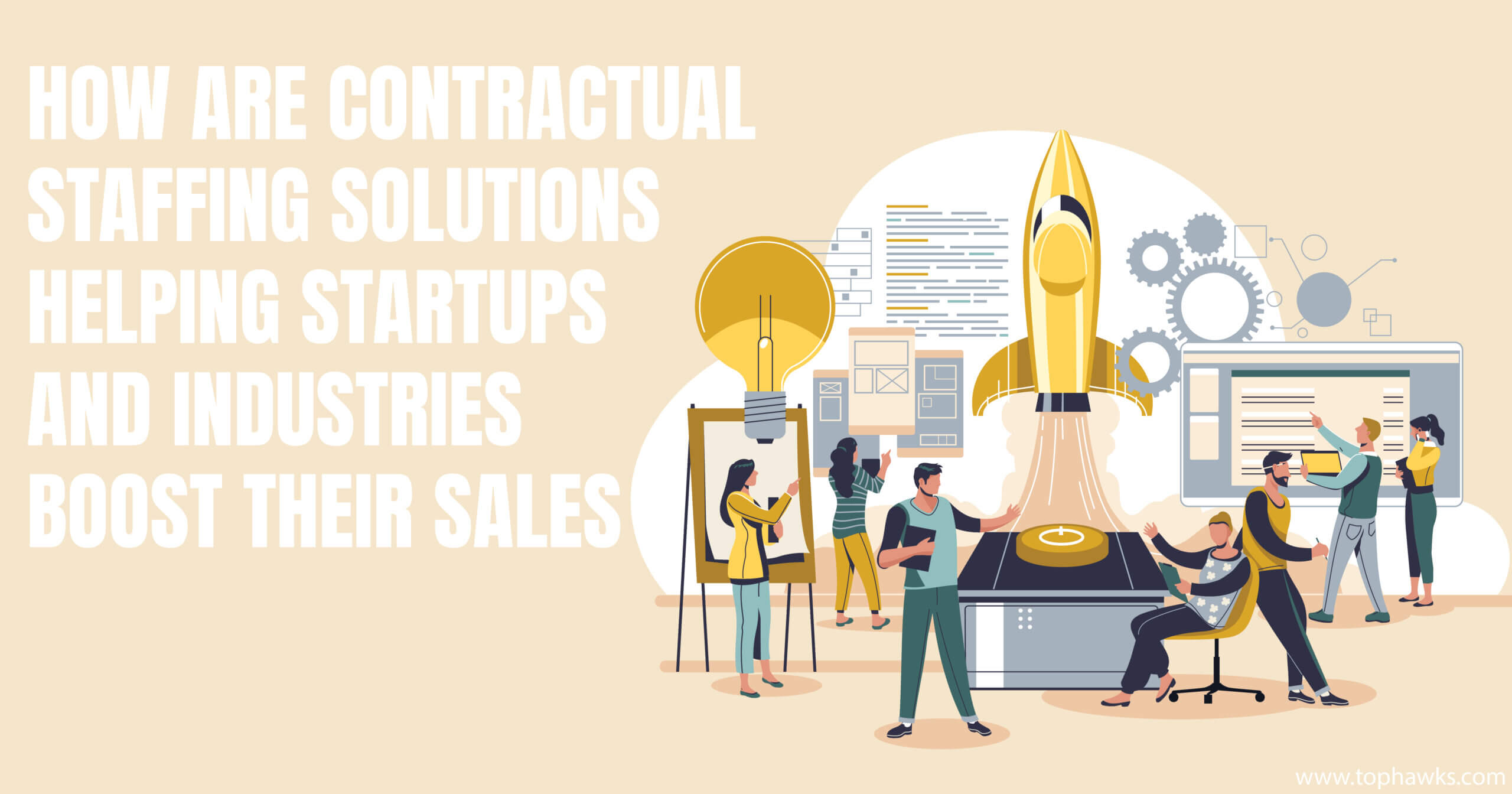 How are contractual staffing solutions helping startups and industries boost their sales?