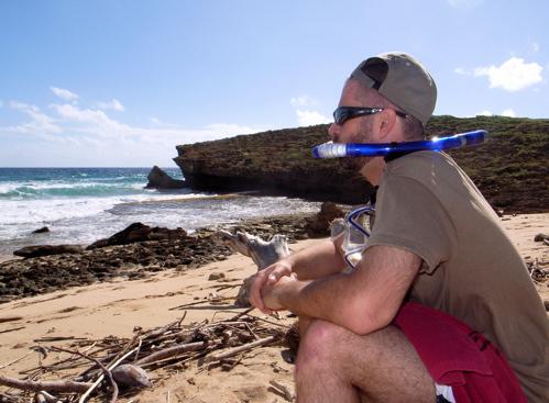 Me at Beach w/ Snorkel