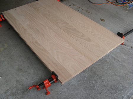 Gluing Boards Using Pipe Clamps