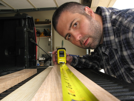Measuring Entertainment Center Apron Pieces
