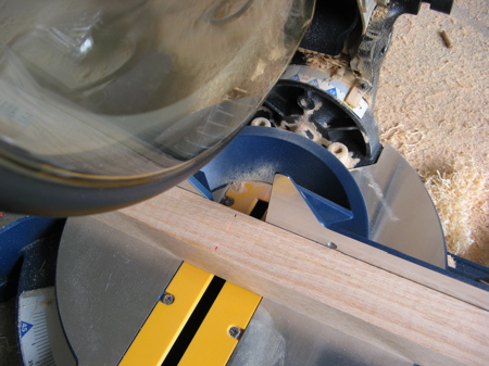 Compound Miter Saw and Table Leg