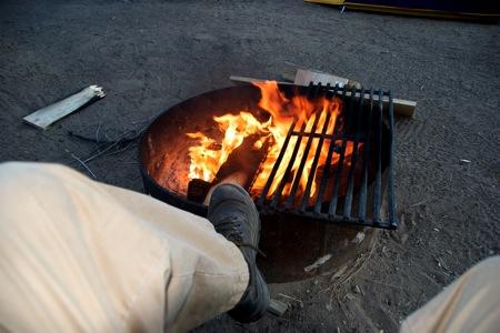 Campfire at Serrano Campground on the North Shore of Big Bear Lake