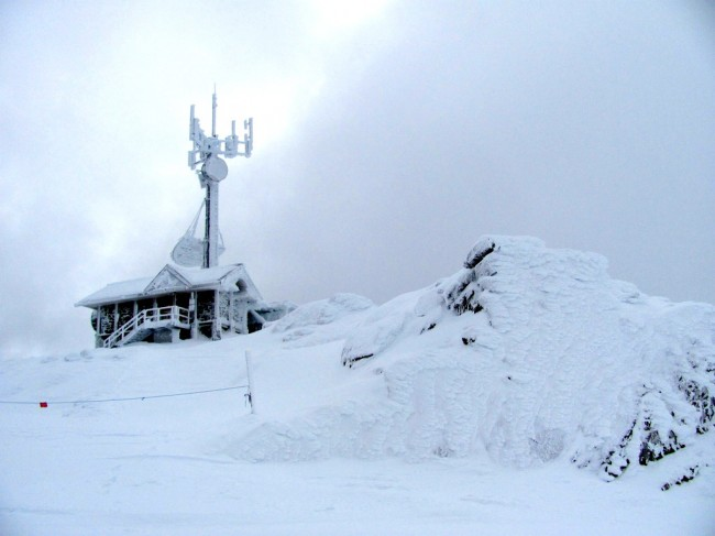 The top of Whistler Peak looks like this.