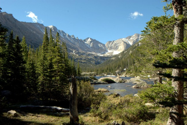 Mills Lake at Rocky Mountain National Park